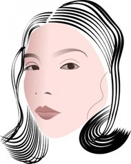 face,lady,portrait,woman,chinese,media,clip art,public domain,image,png,svg
