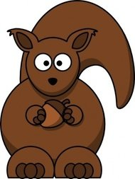cartoon,squirrel,colour,animal,mammal,funny,media,clip art,how i did it,public domain,image,png,svg