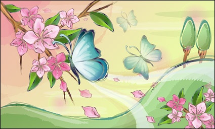 Butterfly and flower clip arts, free clipart - ClipartLogo.com