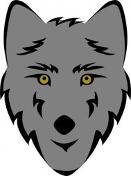 wolf,head,stylized,animal,mammal