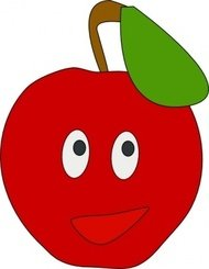 smiling,apple,nature,cartoon,smile,media,clip art,public domain,image,svg