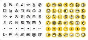 simple,lin,icon,graphics,material
