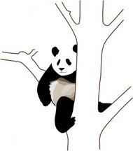 panda,tree,animal,nature,media,clip art,public domain,image,svg,png