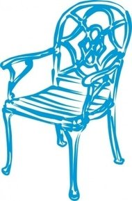 slim,blue,chair