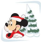 christmas,art,mickey,mouse,xmas,cartoon,tree,snow,winter,snowy,background,design.design,element,minnie,hat,pine,character,glove,red-dress,smile,christmas,mouse,glove,cartoon,element