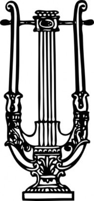 decorative,lyre,music,ornament,decoration,instrument,media,clip art,externalsource,public domain,image,png,svg