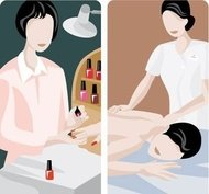 illustration,manicure,massage