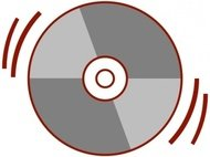 stylized,computer,cd rom,compact disc,data,storage,music,sound,album,icon