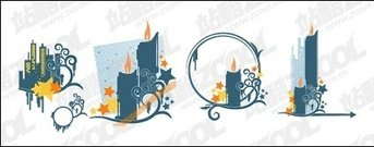 candle,high,pattern,element,vector,material