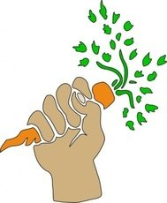 hand,holding,carrot,clip