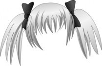 secretlondon,manga,hair,remix,silver,pigtail,clip art,media,public domain,image,svg,pigtail,pigtail