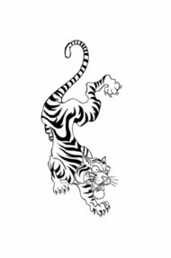 tattoo,style,tiger,sketch,drawing,stripe,animal,element,illustration,animal,stripe,animal,design,element