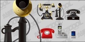 telephone,material,set,different,epoch
