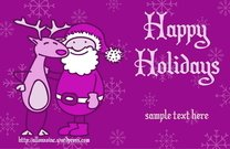 christmas,greeting,card,reindeer,doodle,rudolph,holiday,santa,happy,red-nose