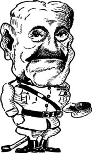 john,pershing,cartoon,caricature,man,person,general,military,war,history,media,clip art,externalsource,public domain,image,svg
