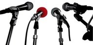 press,conference,microphone,material