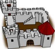 ugly,perspective,cartoony,fort,fortress,stronghold,castle,medieval,cartoon,sketch,simple,building,game,colour,construction,map,cartography,geography,fantasy,rpg,media,clip art,how i did it,public domain,image,png,svg