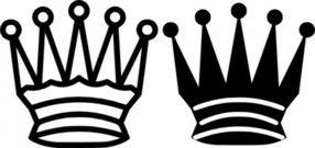 chess,queen,crown,game,icon,black,white,media,clip art,externalsource,public domain,image,png,svg