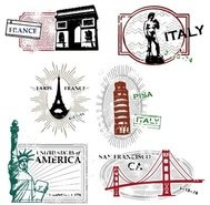 series,landmark,travel,stamp