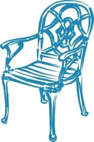 blue,chair