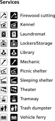 symbol,gallery,park,map,pictograph,service,cartography