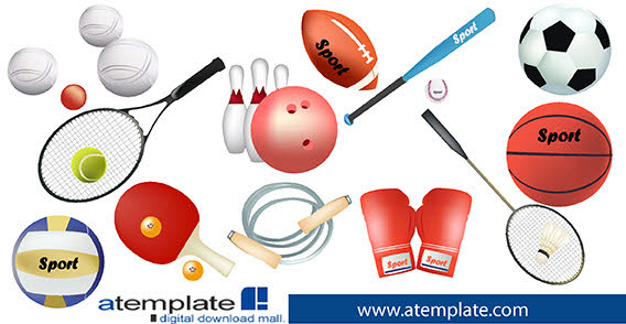 free clipart of sports equipment - photo #18