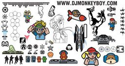 mixed,_mixed,logo,sign,dj,monkey,turntable,boy,character,girl,skull,money,car,rose,bullet,camera,helicopter,silhouette,bullet,mixed,free,vector,logo,design,dj,turntable