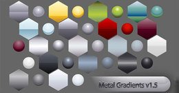 metal,gradient,shape,free,vector