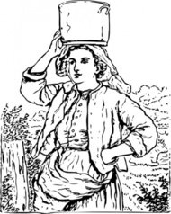 milk,maid,farmer,chore,girl,person,colouring book,media,clip art,externalsource,public domain,image,png,svg