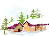 new,year,house,fine,tree,snow,flak,yuletide,season,holiday