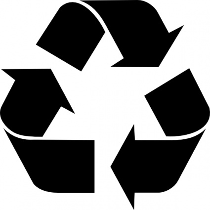 sign-black-symbol-white-signs-symbols-recycle-recycling-free-recycled ...