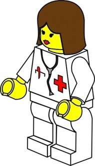 female,robot,people,toy,figure,minifig,lego,job,doctor,woman