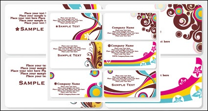 Fashion Business Card Template Vector Report Templates