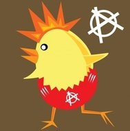 punk,rock,chicken,easter,color,cartoon,media,clip art,public domain,image,svg