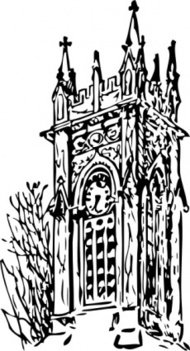 clock,tower,architecture,building,catherdral,church,media,clip art,externalsource,public domain,image,png,svg