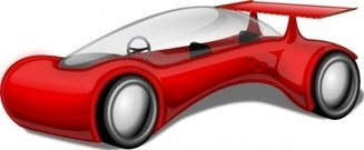 future,scifi,science fiction,car,red,vehicle,fantasy,construction,media,clip art,public domain,image,jpg,svg