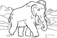 coloring,book,mammoth,clip