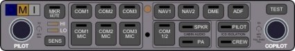 audio,panel,audio panel,switch box,nav,com,aircraft radio,intercom,media,clip art,public domain,image,png,svg