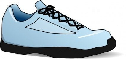 Girl Tennis Shoes Clipart