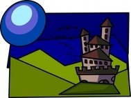 cartoon,castle,comic,fun,bat,night,colour,media,clip art,public domain,image,png,svg