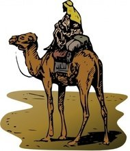 person,riding,camel,animal,bible,desert,outline,religion,externalsource
