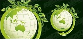 green,leaf,with,vector,earth,material