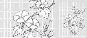 vector,line,drawing,flower,morning,glory,lattice,background