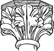 decorated,gothic,capital,architecture,english,media,clip art,externalsource,public domain,image,png,svg
