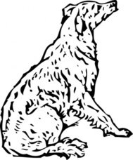 waiting,lineart,remix,animal,mammal,dog,canine,line art,contour,clip art,media,public domain,image,png,svg
