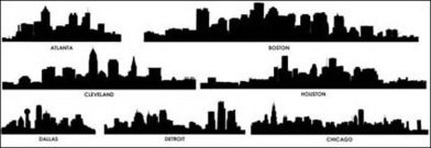 city,silhouette,vector,material