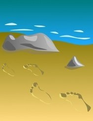 footprint,sand,beach,vacation