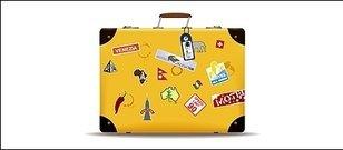 yellow,suitcase,vector,material