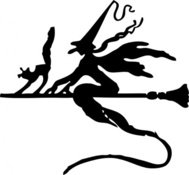 witch,broom,stick,flying,cat,halloween,silhouette,media,clip art,externalsource,public domain,image,png,svg