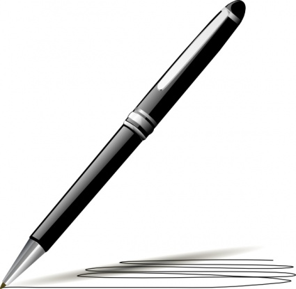 image of pen on paper
